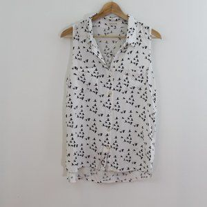 Just Living Flock of Geese Button Down Tank